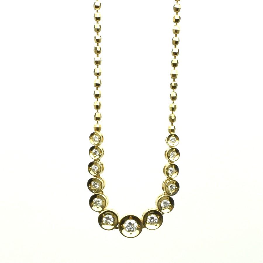 中古 送料無料 美品 ジュエリー 大放出セール お呼ばれ パーティー 宝石 年間定番 K18 ネックレス ダイヤモンド ダイヤモンド0.50ct レディース 重量9.1g