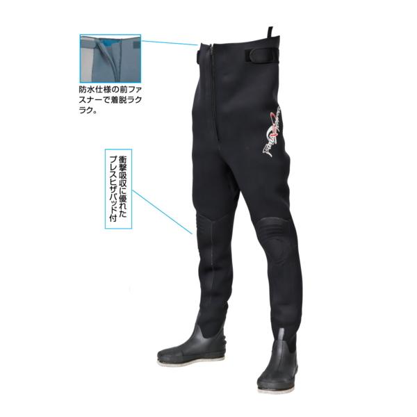 阪神素地 スリムウェーダー (中割・フェルト底) FX-537 ブラック 25X