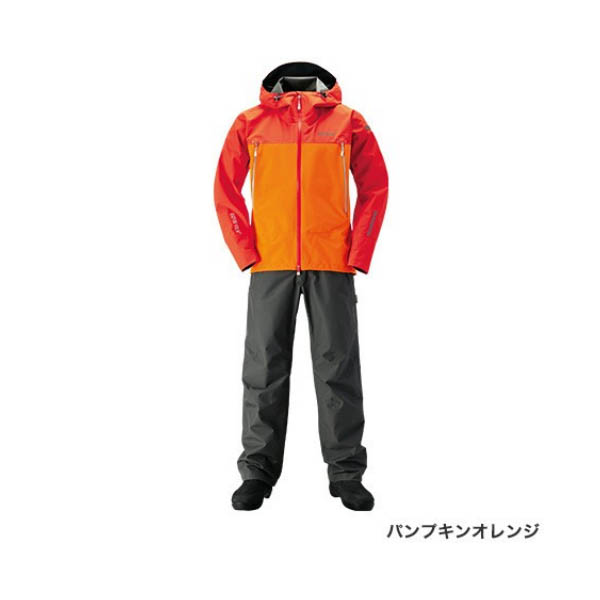 ≪'19年3月新商品!≫ シマノ ゴアテックス(R) ベーシックスーツ RA-017R パンプキンオレンジ 2XLサイズ