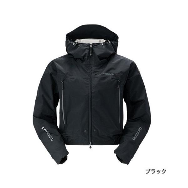 ≪'19年3月新商品!≫ シマノ DSショートレイン RA-02SS ブラック Lサイズ
