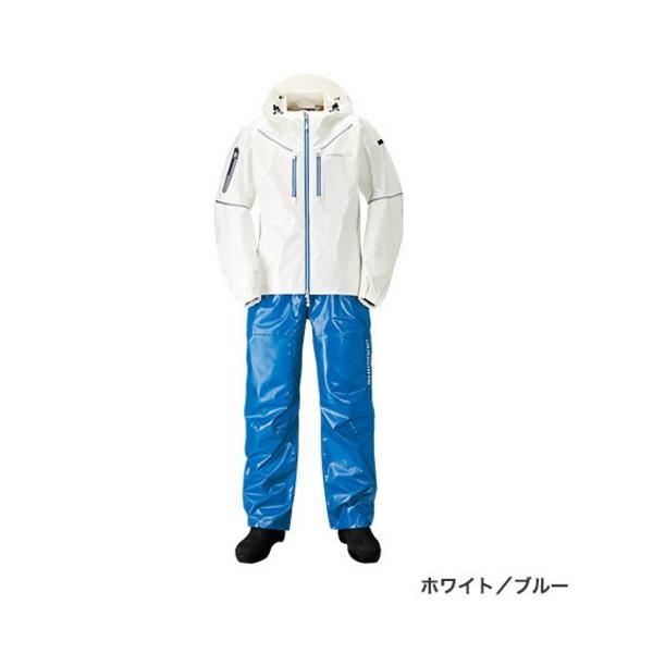 ≪'19年4月新商品!≫ シマノ SS・3Dマリンスーツ RA-033R ホワイト/ブルー Lサイズ [4月発売予定/ご予約受付中]