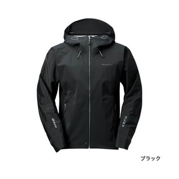 ≪'19年3月新商品!≫ シマノ XEFO・デュラスト レインジャケット RA-22JS ブラック Mサイズ