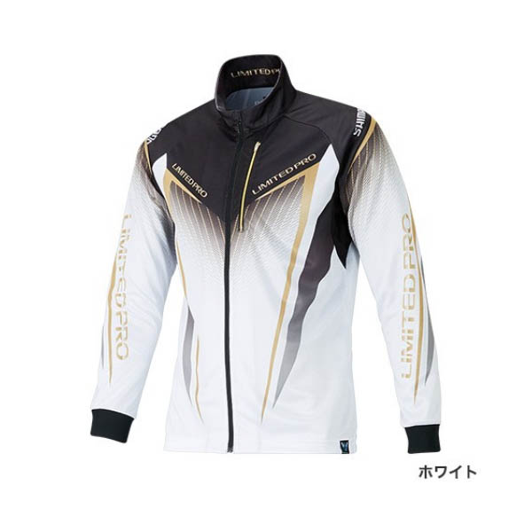 ≪'19年3月新商品!≫ シマノ フルジップシャツ リミテッド プロ(長袖) SH-011S ホワイト Mサイズ