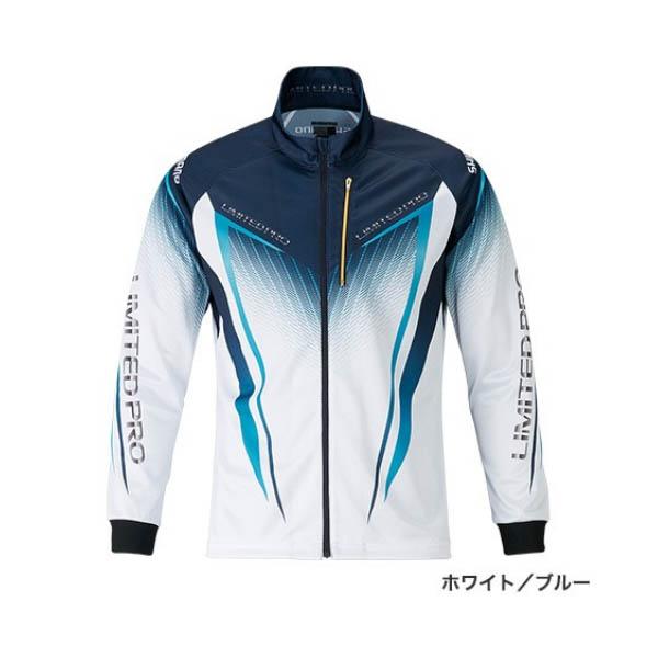 ≪'19年3月新商品!≫ シマノ フルジップシャツ リミテッド プロ(長袖) SH-011S ホワイト/ブルー 2XLサイズ