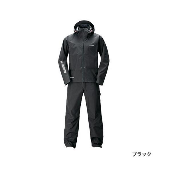 ≪'20年3月新商品!≫ シマノ ゴアテックス(R) アドバンスレインスーツ RA-017T ブラック Mサイズ