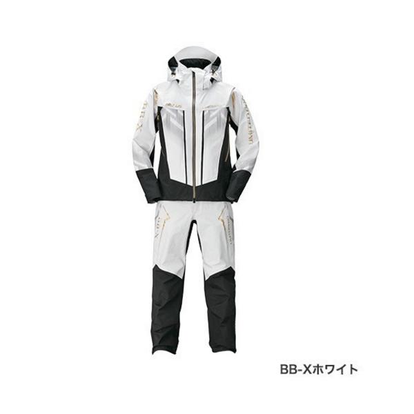 ≪'20年3月新商品!≫ シマノ ネクサス・DSクール レインスーツ リミテッド プロ RA-123T BB-Xホワイト 2XLサイズ