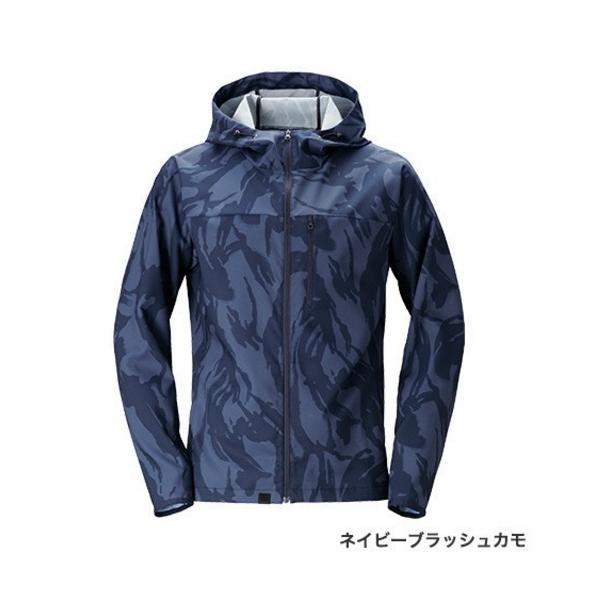 ≪'20年3月新商品!≫ シマノ SSジャケット WJ-048T ネイビーブラッシュカモ 2XLサイズ