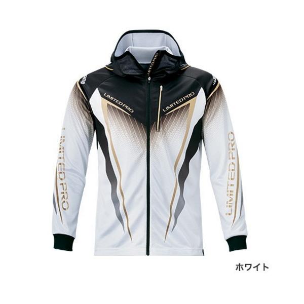 ≪'20年3月新商品!≫ シマノ フルジッププリントフーディシャツ リミテッド プロ(長袖) SH-013T ホワイト Mサイズ