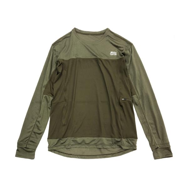 ≪'19年4月新商品!≫ アブガルシア スコーロン防虫&冷感UVドライロングスリーブTシャツ オリーブ Lサイズ