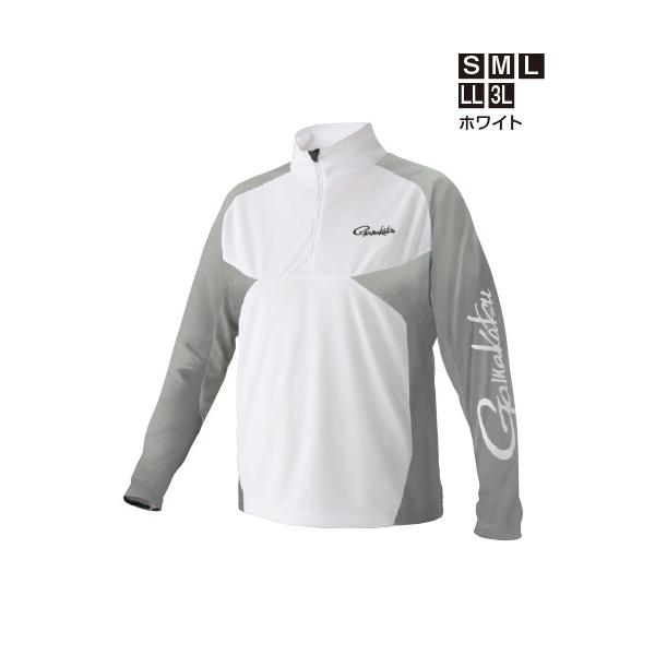 ≪'19年5月新商品!≫ がまかつ ノーフライゾーン(R)ジップシャツ GM-3550 ホワイト 3Lサイズ