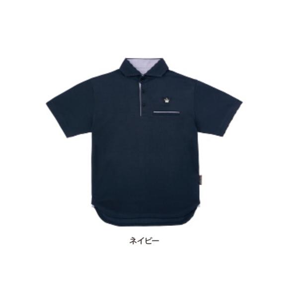 ≪'20年2月新商品!≫ がまかつ ポロシャツ(クラウンエディション) GM-3635 ネイビー LLサイズ