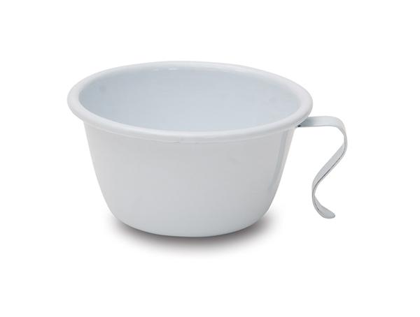 KITCHENDAILY スタッキングカップ ホワイト ホーロー 春の新作続々 320cc 海外 お取り寄せ 郵便NG