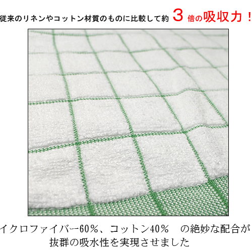 "Suction power is amazing! Give wiping of dishes, exquisite exclusive ""made in Germany ☆ dish towel"" microfiber and cotton blending in absorbency towel linen material about 3 times!"