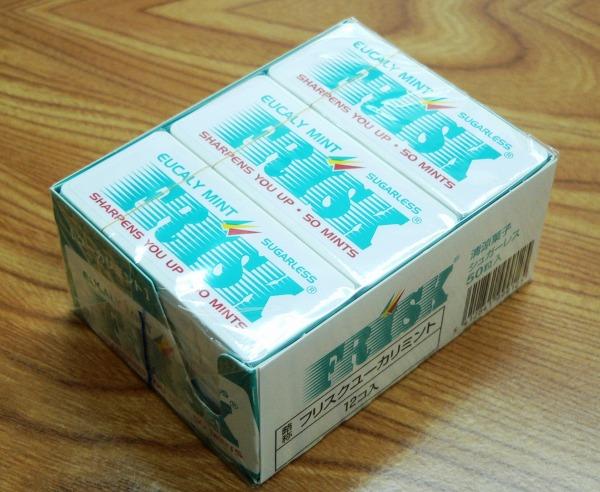 没有FRISK■furisukuyukariminto 50粒*12箱口臭预防礼貌砂糖的凉点心平板电脑