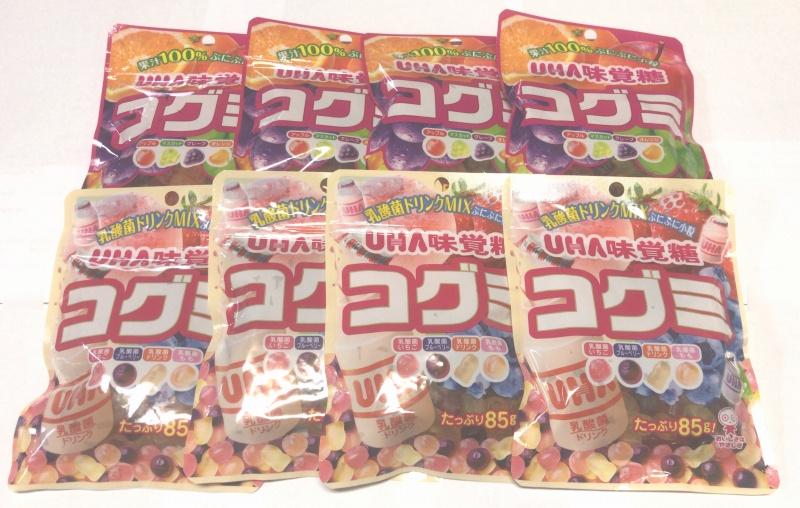 【代引き不可】【ネコポス便でお届け】【同梱不可】 味覚糖 コグミ4袋×乳酸菌ドリンクMix4袋のセット