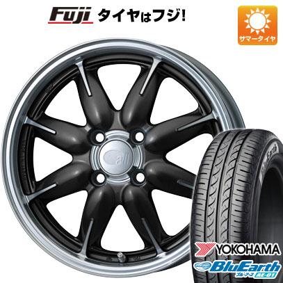タイヤはフジ 送料無料 ENKEI エンケイ allシリーズ オールワン 5J 5.00-15 YOKOHAMA ブルーアース AE-01 165/60R15 15インチ サマータイヤ ホイール4本セット
