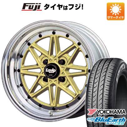 タイヤはフジ 送料無料 N-BOX タントカスタム ワゴンR WORK ワーク エクイップ 03 5J 5.00-14 YOKOHAMA ブルーアース AE-01 155/65R14 14インチ サマータイヤ ホイール4本セット