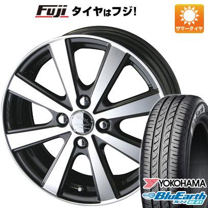 タイヤはフジ 送料無料 KYOHO 共豊 スマック VI-R 4.5J 4.50-14 YOKOHAMA ブルーアース AE-01 165/55R14 14インチ サマータイヤ ホイール4本セット