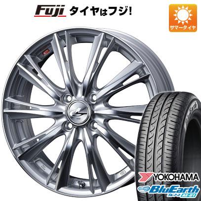 タイヤはフジ 送料無料 ソリオ(MA36S) WEDS ウェッズ レオニス WX 4.5J 4.50-15 YOKOHAMA ブルーアース AE-01 165/65R15 15インチ サマータイヤ ホイール4本セット