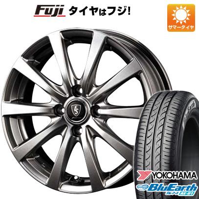 タイヤはフジ 送料無料 MID ユーロスピード G10 5.5J 5.50-15 YOKOHAMA ブルーアース AE-01 175/60R15 15インチ サマータイヤ ホイール4本セット