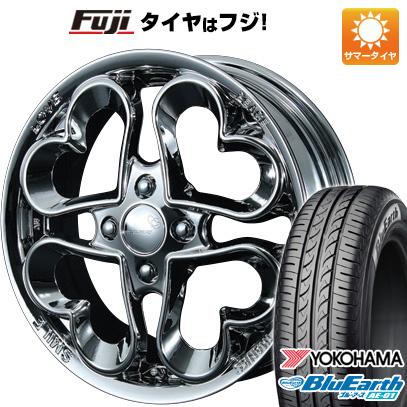 タイヤはフジ 送料無料 N-BOX タントカスタム ワゴンR PIAA ピア ジュエルハート 4.5J 4.50-14 YOKOHAMA ブルーアース AE-01 155/65R14 14インチ サマータイヤ ホイール4本セット