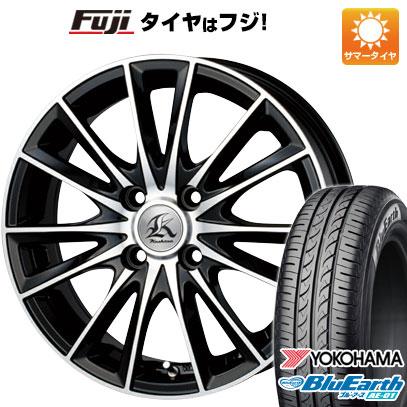タイヤはフジ 送料無料 N-BOX タントカスタム ワゴンR TECHNOPIA テクノピア カシーナ FV-7 4.5J 4.50-14 YOKOHAMA ブルーアース AE-01 155/65R14 14インチ サマータイヤ ホイール4本セット