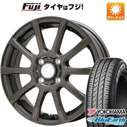 タイヤはフジ 送料無料 N-BOX タントカスタム ワゴンR BRANDLE ブランドル 565Z 4.5J 4.50-14 YOKOHAMA ブルーアース AE-01 155/65R14 14インチ サマータイヤ ホイール4本セット