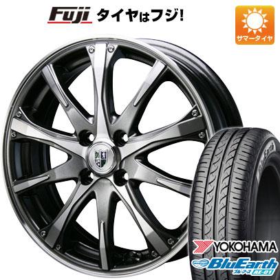 タイヤはフジ 送料無料 BLEST ブレスト バーンシュポルト タイプ504 5J 5.00-15 YOKOHAMA ブルーアース AE-01 165/55R15 15インチ サマータイヤ ホイール4本セット