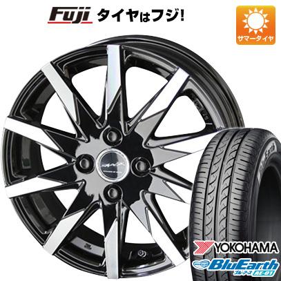 タイヤはフジ 送料無料 N-BOX タントカスタム ワゴンR KYOHO 共豊 スマック スフィーダ 4.5J 4.50-15 YOKOHAMA ブルーアース AE-01 165/55R15 15インチ サマータイヤ ホイール4本セット