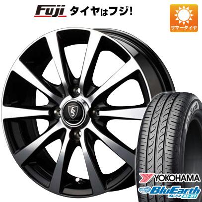 タイヤはフジ 送料無料 MID ユーロスピード BL-10 4.5J 4.50-14 YOKOHAMA ブルーアース AE-01 165/55R14 14インチ サマータイヤ ホイール4本セット