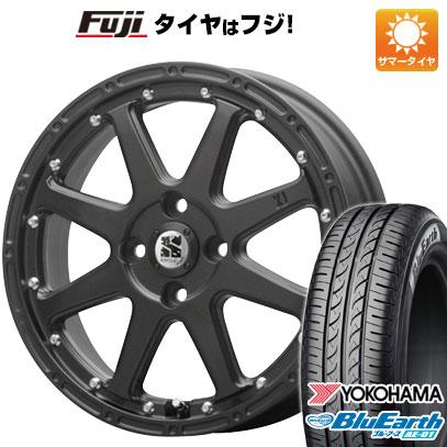 タイヤはフジ 送料無料 N-BOX タントカスタム ワゴンR MLJ エクストリームJ 4.5J 4.50-15 YOKOHAMA ブルーアース AE-01 165/55R15 15インチ サマータイヤ ホイール4本セット