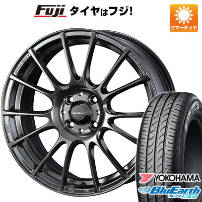 タイヤはフジ 送料無料 ソリオ(MA36S) WEDS ウェッズスポーツ SA-72R 5J 5.00-15 YOKOHAMA ブルーアース AE-01 165/65R15 15インチ サマータイヤ ホイール4本セット