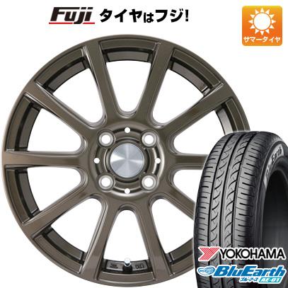 タイヤはフジ 送料無料 N-BOX タントカスタム ワゴンR カジュアルセット タイプB17 ブロンズ 4.5J 4.50-15 YOKOHAMA ブルーアース AE-01 165/55R15 15インチ サマータイヤ ホイール4本セット