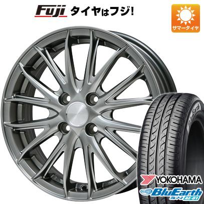 タイヤはフジ 送料無料 BRANDLE ブランドル 757 4.5J 4.50-14 YOKOHAMA ブルーアース AE-01 165/55R14 14インチ サマータイヤ ホイール4本セット