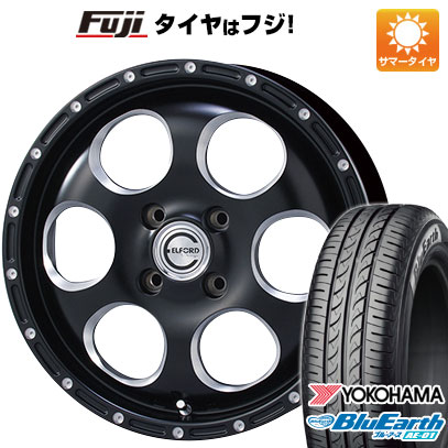 タイヤはフジ 送料無料 ソリオ(MA36S) ELFORD ブラッドストック ブラッドストック ケーズ 4.5J 4.50-15 YOKOHAMA ブルーアース AE-01 165/65R15 15インチ サマータイヤ ホイール4本セット
