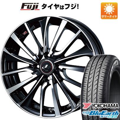 タイヤはフジ 送料無料 WEDS ウェッズ レオニス VT 5.5J 5.50-15 YOKOHAMA ブルーアース AE-01 185/55R15 15インチ サマータイヤ ホイール4本セット