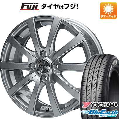 タイヤはフジ 送料無料 MONZA モンツァ ZACK JP-110 10スポーク 4.5J 4.50-14 YOKOHAMA ブルーアース AE-01 165/55R14 14インチ サマータイヤ ホイール4本セット