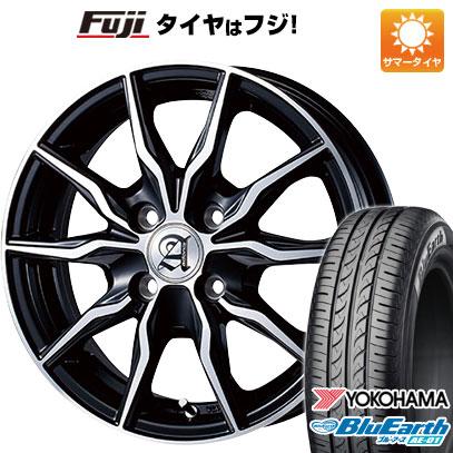 タイヤはフジ 送料無料 TECHNOPIA テクノピア アドニス KRS 4.5J 4.50-14 YOKOHAMA ブルーアース AE-01 165/55R14 14インチ サマータイヤ ホイール4本セット