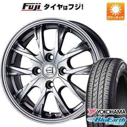 タイヤはフジ 送料無料 TECHNOPIA テクノピア アフロディーテ GX 5.5J 5.50-15 YOKOHAMA ブルーアース AE-01 175/60R15 15インチ サマータイヤ ホイール4本セット