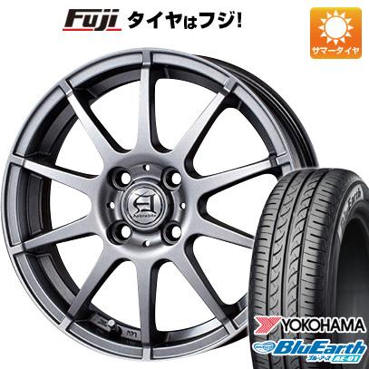 タイヤはフジ 送料無料 ソリオ(MA36S) TECHNOPIA テクノピア アフロディーテ HS 4.5J 4.50-15 YOKOHAMA ブルーアース AE-01 165/65R15 15インチ サマータイヤ ホイール4本セット