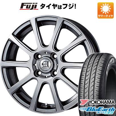 タイヤはフジ 送料無料 TECHNOPIA テクノピア アフロディーテ IS 4.5J 4.50-14 YOKOHAMA ブルーアース AE-01 155/65R14 14インチ サマータイヤ ホイール4本セット