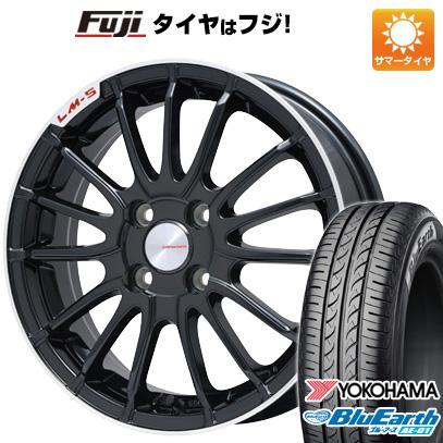 タイヤはフジ 送料無料 ソリオ(MA36S) LEHRMEISTER LM-S トレント15 (ブラック/リムポリッシュ) 5J 5.00-15 YOKOHAMA ブルーアース AE-01 165/65R15 15インチ サマータイヤ ホイール4本セット