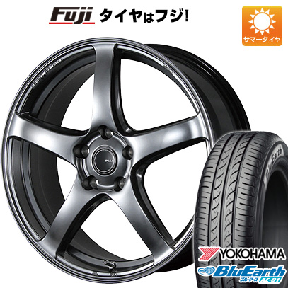 タイヤはフジ 送料無料 PIAA ピア エレガンツァ S-01 4.5J 4.50-14 YOKOHAMA ブルーアース AE-01 165/55R14 14インチ サマータイヤ ホイール4本セット