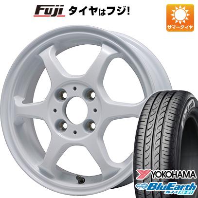 タイヤはフジ 送料無料 LEHRMEISTER リアルスポーツ カリスマVS6 5J 5.00-14 YOKOHAMA ブルーアース AE-01 165/55R14 14インチ サマータイヤ ホイール4本セット