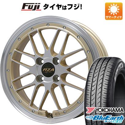タイヤはフジ 送料無料 エブリイワゴン BIGWAY ビッグウェイ LEYCROSS レゼルヴァ 4.5J 4.50-15 YOKOHAMA ブルーアース AE-01 165/50R15 15インチ サマータイヤ ホイール4本セット
