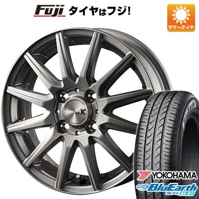 タイヤはフジ 送料無料 N-BOX タントカスタム ワゴンR INTER MILANO インターミラノ スペックK 4.5J 4.50-14 YOKOHAMA ブルーアース AE-01 155/65R14 14インチ サマータイヤ ホイール4本セット