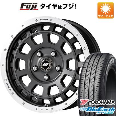 タイヤはフジ 送料無料 N-BOX タントカスタム ワゴンR WORK ワーク クラッグ ティーグラビック 5J 5.00-15 YOKOHAMA ブルーアース AE-01 165/55R15 15インチ サマータイヤ ホイール4本セット