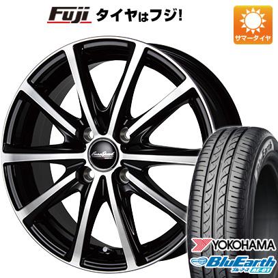 タイヤはフジ 送料無料 MID ユーロスピード V25 4J 4.00-13 YOKOHAMA ブルーアース AE-01 145/80R13 13インチ サマータイヤ ホイール4本セット