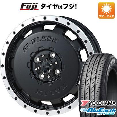 8月 2・5・8日はポイント倍増! タイヤはフジ 送料無料 MONZA モンツァ HI-BLOCK バレックス 4.5J 4.50-15 YOKOHAMA ブルーアース AE-01 165/60R15 15インチ サマータイヤ ホイール4本セット