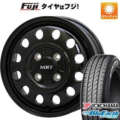 タイヤはフジ 送料無料 エブリイワゴン MORITA モリタ MRT V01 5J 5.00-15 YOKOHAMA ブルーアース AE-01 165/50R15 15インチ サマータイヤ ホイール4本セット